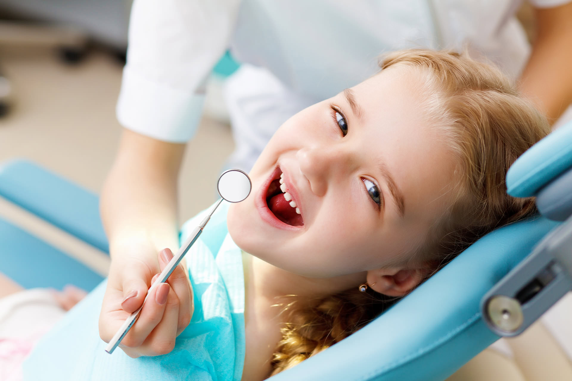 Teen girl dental check-up